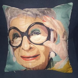 Other - Iris Apfel PILLOW COVER